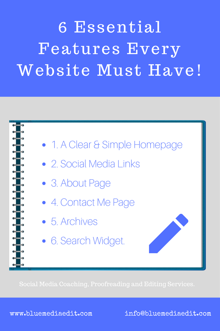 6 Essential Features Every Website Must Have!