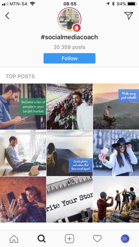 Follow Hasthags On Instagram Social Media Coach